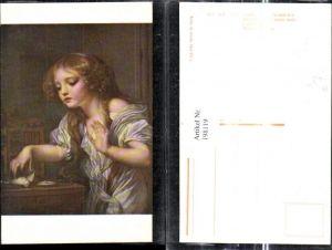 198119,Künstler Ak J. B. Greuze Der tote Vogel Mädchen