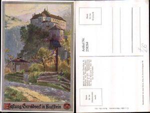 258264,Deutscher Schulverein 335 Künstler E. F. Hofecker Festung Geroldseck in Kufstein Wegkreuz Marterl