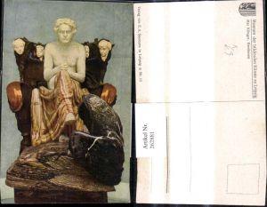 262881,Künstler Ak Max Klinger Beethoven Nackter Oberkörper Statue Erotik