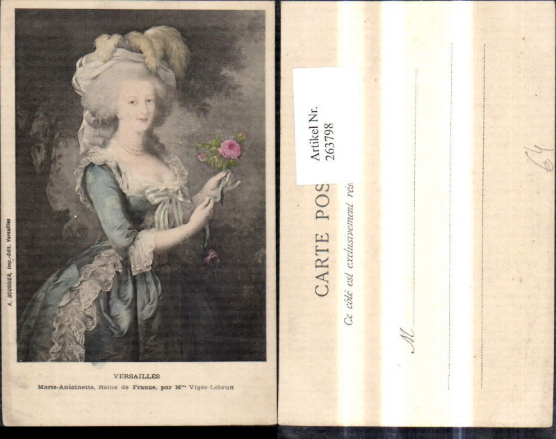 263798,Künstler Ak Maria Antoinette Adel Monarchie