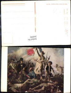 264090,Künstler Ak Eugene Delacroix The Barricade Französische Revolution Geschichte Politik Ausland