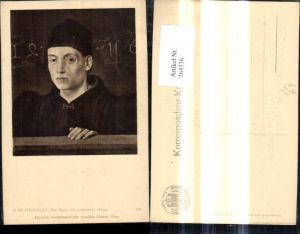 264336,Künstler Ak Jean Fouquet Ein Mann mit schwarzer Mütze Portrait pub J. Löwy Wien 359