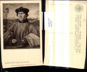 264339,Künstler Ak Quinten Metsys Bildnis eines Geistlichen Mann Buch Brille Portrait pub J. Löwy Wien 172