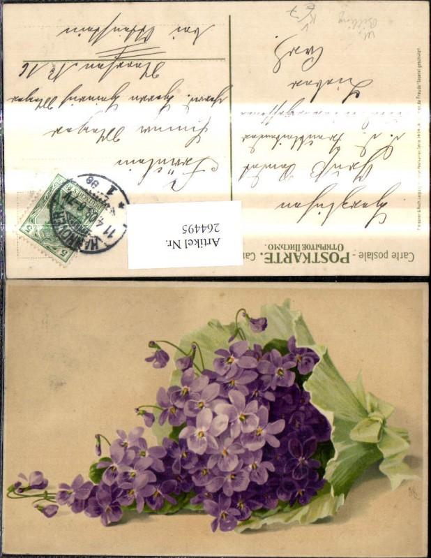 264495,Künstler Ak Meissner & Buch 1414 M. Billing Wo Blumen da Freude Veilchen Blumenstrauß
