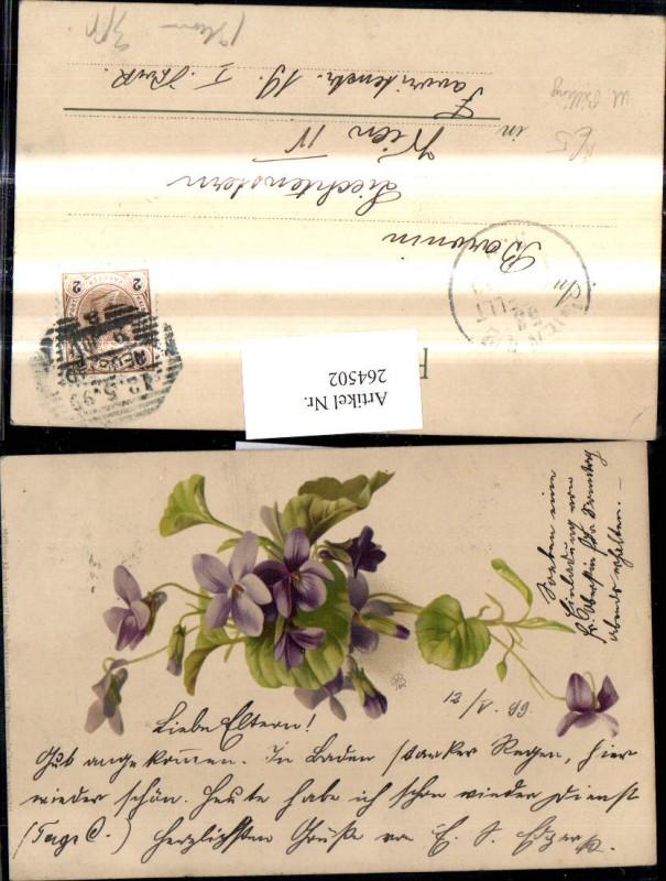 264502,Künstler Ak Meissner & Buch 1026 M. Billing Veilchengrüße Veilchen Blumen