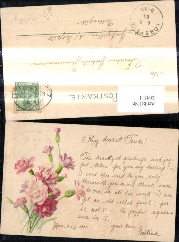 264511,Künstler Ak Meissner & Buch 1046 M. Billing Blumen auf d. Weg