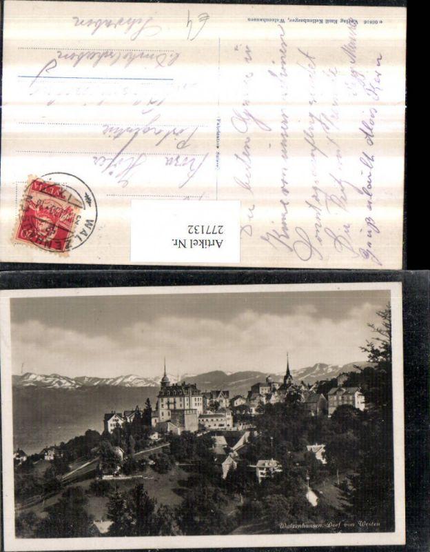 277132,Walzenhausen Dorf von Westen Totale Kt Appenzell