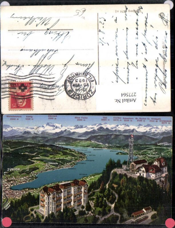 277564,Uetliberg b. Zürich Totale m. d. Alpen Bergkulisse Kt Zürich