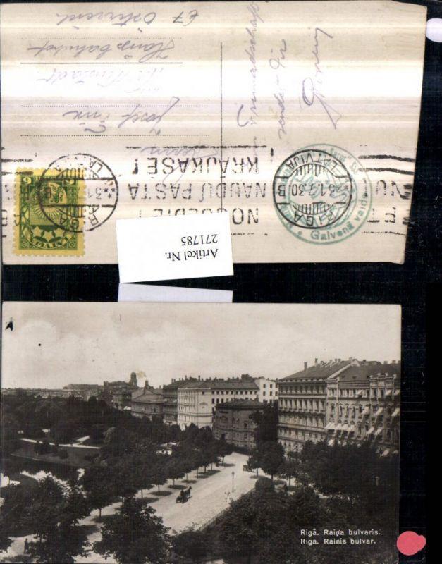 271785,Lettland Riga Rainis bulvar Teilansicht