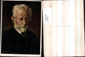 273171,Künstler AK Ed. Winkler Peter Tschaikowksky Mann m. Bart Portrait pub Ackermann 7094