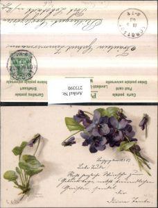 273390,Künstler AK C. v. Sivers Blumen Veilchen