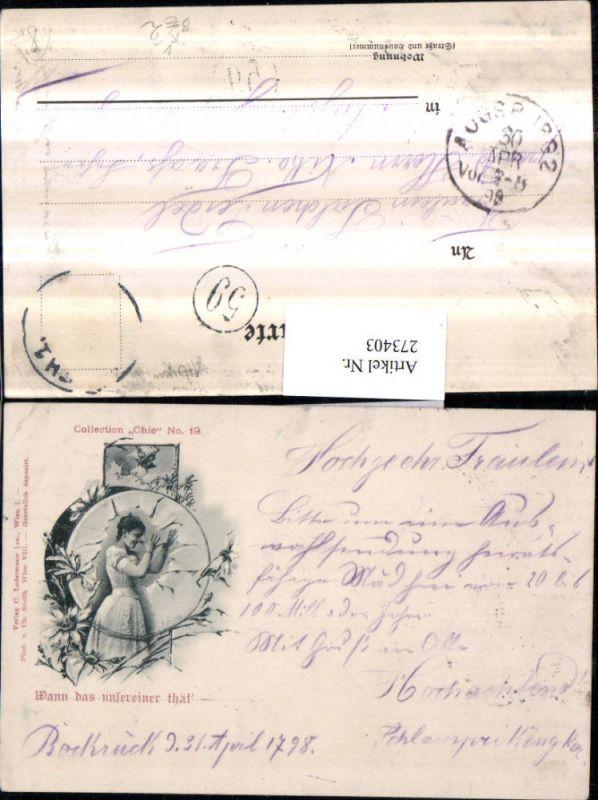 273403,Künstler AK Ch. Scolik Wann das unsereiner thät Frau Scherz Humor Portrait pub Collection Chic 19