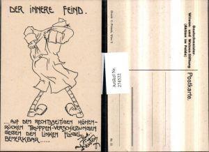 274522,Karikatur Rudolf Kristen 33 Deutschmeister Aktion im Felde Der innere Feind