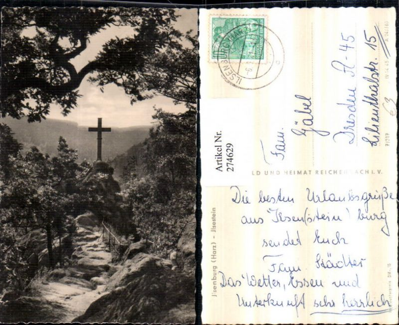 274629,Ilsenburg im Harz Ilsestein Kreuz pub VEB 7/317
