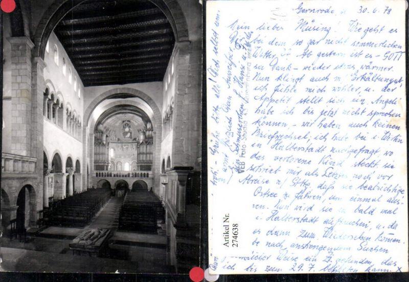 274638,Gernrode im Harz Kirche Innenansicht pub VEB