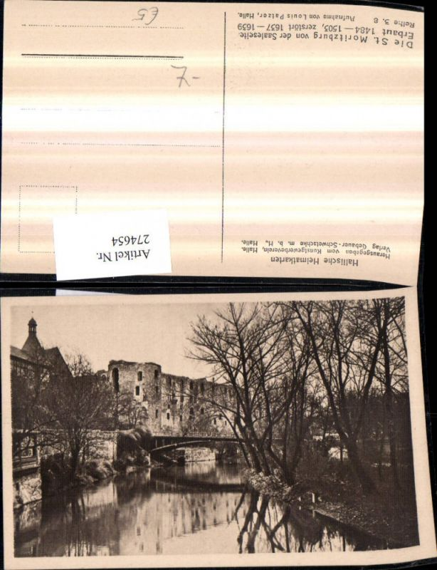 274654,Halle an d. Saale St. Moritzburg Brücke
