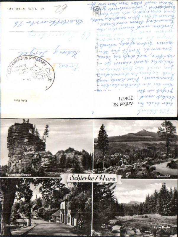 274671,Schierke im Harz Teilansicht Feuersteinklippen Unterschierke Kalte Bode Mehrbildkarte