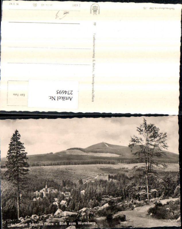 274695,Schierke im Harz Totale Blick zum Wurmberg