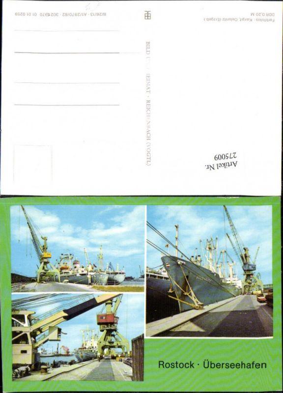 275009,Rostock Überseehafen Hafen Dampfer Schiffe Kran