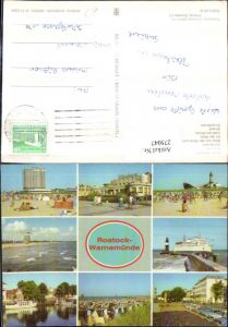275047,Rostock Warnemünde Hotel Neptun Kurhaus Strand Cafe am Strom Strandhotel Dampfer Mehrbildkarte