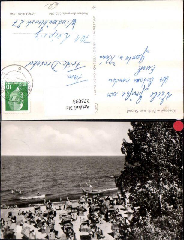 275093,Koserow Blick zum Strand Strandleben Strandkörbe