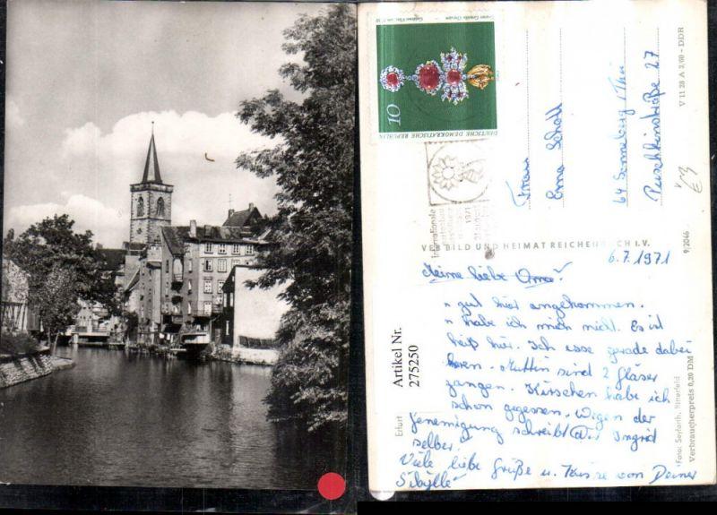 275250,Erfurt Partie an d. Gera Kirchenturm pub VEB 9/2046