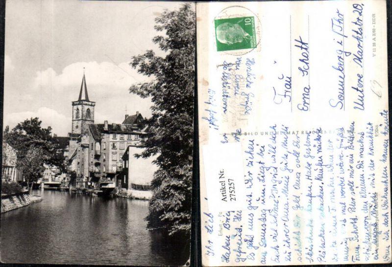 275257,Erfurt Partie an d. Gera Kirchenturm pub VEB 9/2046