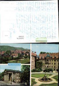 275343,Meiningen Totale Theater Schlosshof m. Brunnen Mehrbildkarte