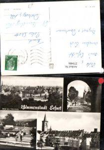 275406,Erfurt Totale Domblick Krämerbrücke Internationale Gartenbauausstellung Garten Mehrbildkarte