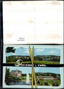 275418,Oberhof in Thüringen Totale Springbrunnen Mehrbildkarte pub VEB