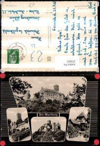 275423,Die Wartburg Burg b. Eisenach Mehrbildkarte