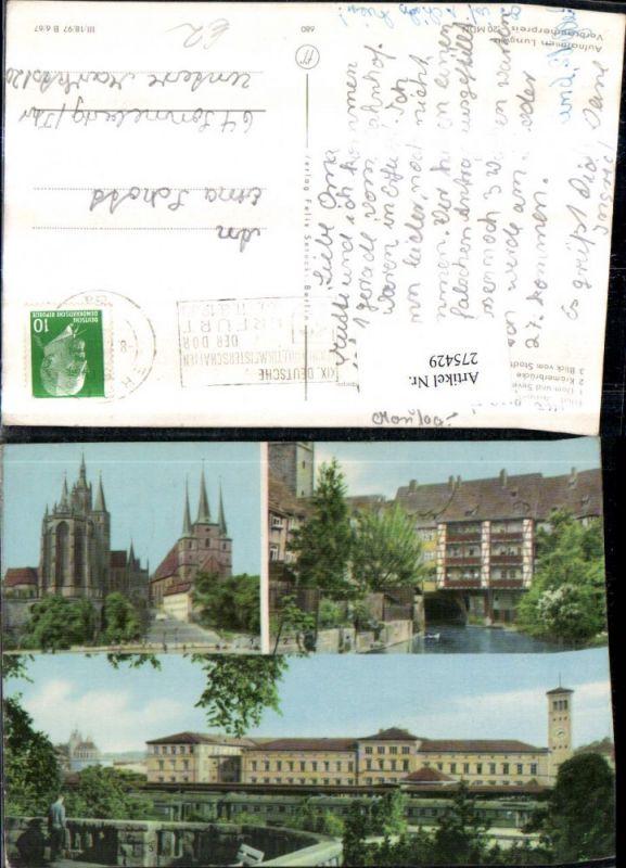 275429,Erfurt Dom u. Severi Krämerbrücke Blick v. Stadtpark Mehrbildkarte