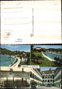 279263,Grein an d. Donau Totale Dampfer Schloss Burg Hof Brunnen Theater Mehrbildkarte