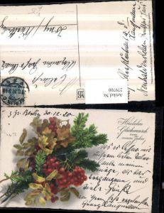 279700,Künstler AK Meissner & Buch 2410 Neujahr Tannenzweige Beeren Blätter