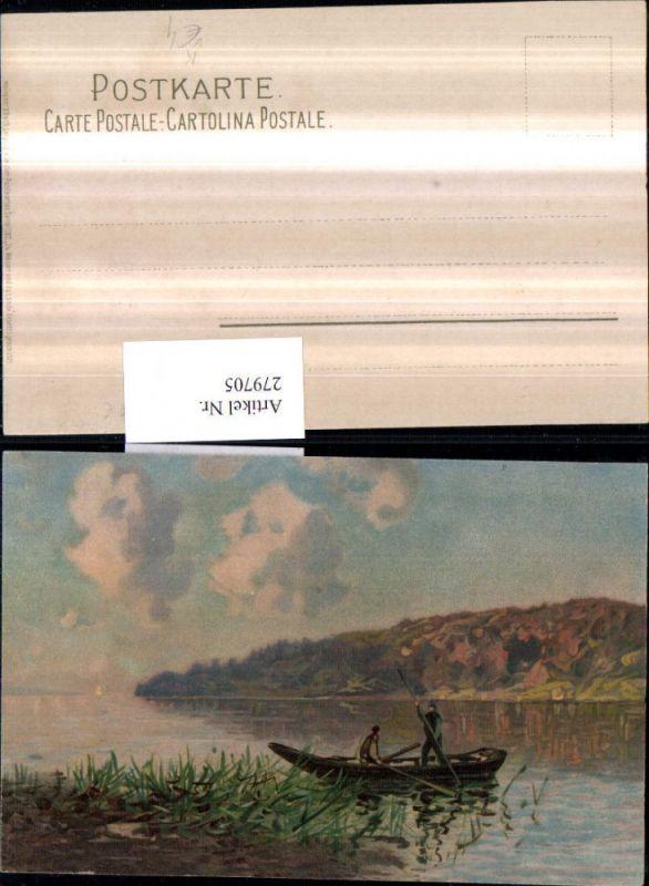279705,Künstler AK Meissner & Buch 1182 Zu Wasser und zu Lande Ruderboot Zille Partie