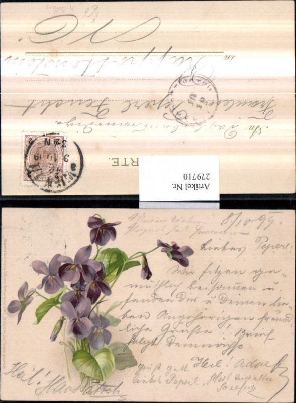 279710,Künstler AK Meissner & Buch 1045 Künstler M. Billing Des Gartens Zier Veilchen