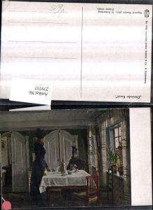 279737,Asco AK 4765 Künstler Sigvard Hansen In Erwartung Frauen Tracht Tisch Kanne