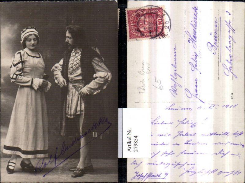 279854,Foto AK Theater Brünn Brno Schauspieler Kostüme Autogramm Rolf