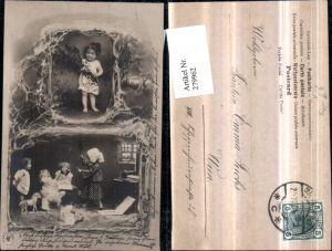 279962,Kinder Zweige Puppen Spielzeugpferd Nachziehpferd Mehrbildkarte pub NPG 313