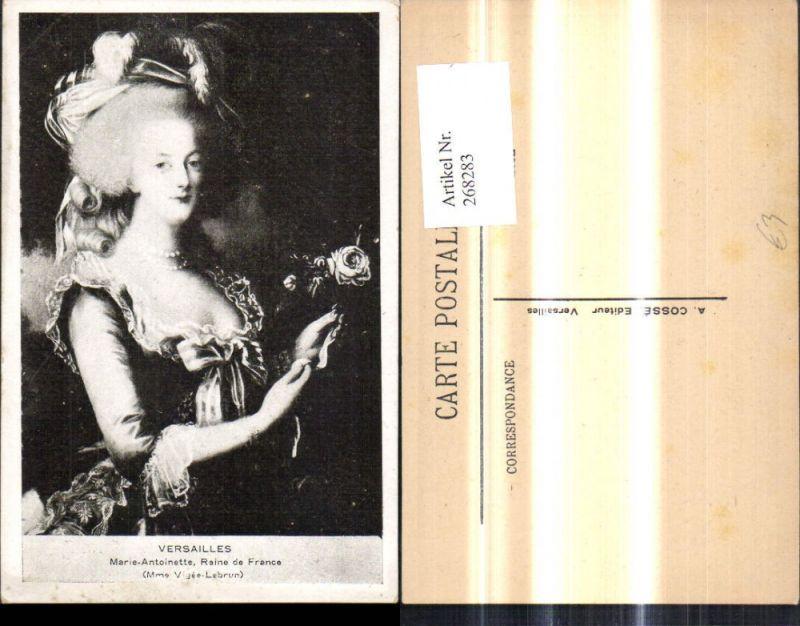 268283,Künstler Ak Portrait Marie Antoinette Versailles Adel Monarchie