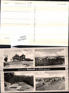 280899,Gruß aus Schnett Totale Waldbad Freibad Mehrbildkarte pub VEB 11/3575
