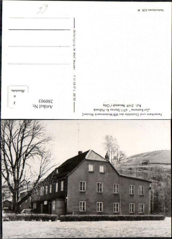 280903,Stanau b. Neustadt Ferienheim u. Gaststätte des VEB Motorenwerk Wurzen Zur Kastanie  0