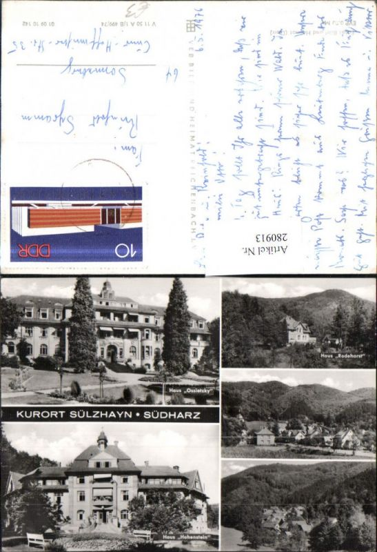 280913,Ellrich Sülzhayn Südharz Teilansicht Haus Ossietzky Rodehorst Hohenstein Mehrbildkarte 0