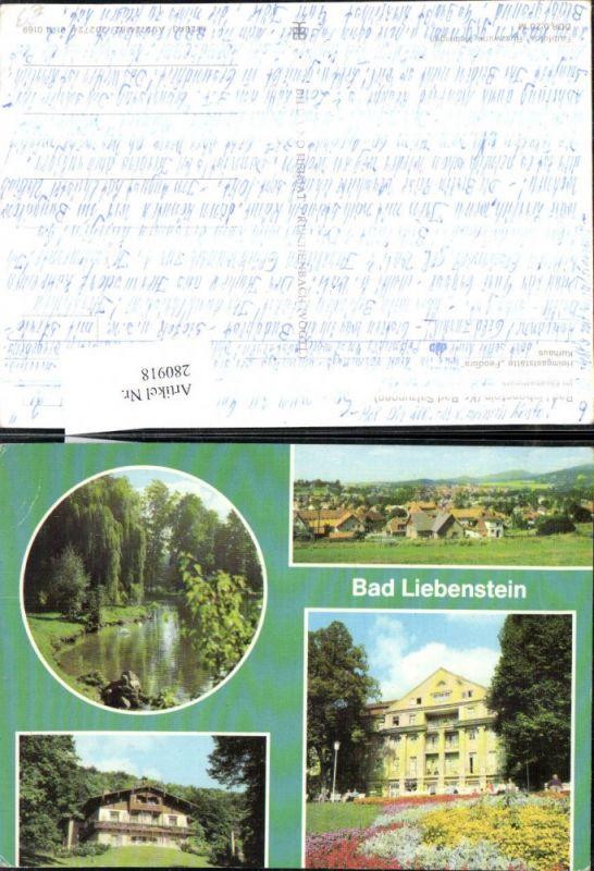 280918,Bad Liebenstein Totale Elisabethpark Heimgaststätte Feodora Kurhaus Mehrbildkarte 0