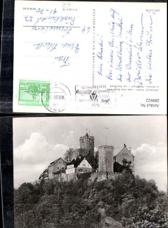 280922,Eisenach Wartburg von Südwest