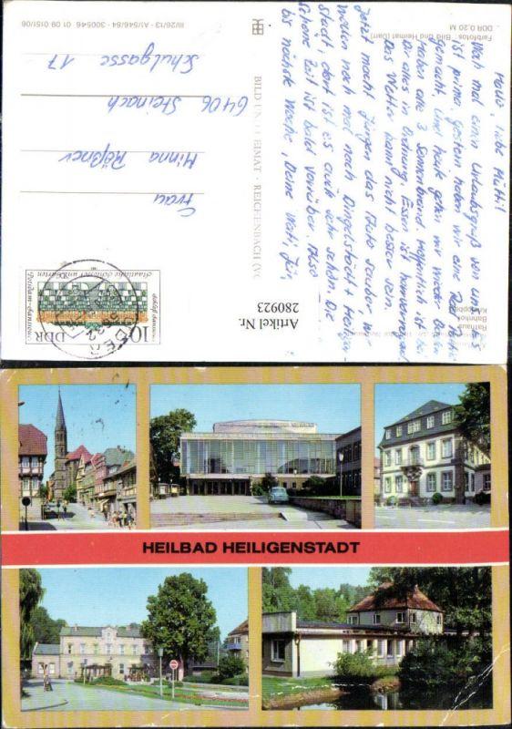 280923,Heiligenstadt Kreiskulturhaus Dr. Theodor Neubauer Rathaus Bahnhof Kneippbad Mehrbildkarte 0