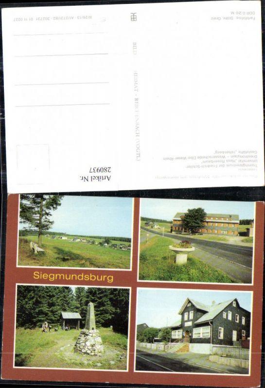 280937,Siegmundsburg Teilansicht Trainingszentrum Dreistromstein Gaststätte Hiftenberg Mehrbildkarte 0