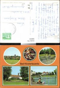280941,Bad Klosterlausnitz Totale Kurpark Sanatorium Dr. Friedrich Wolf Freibad Mehrbildkarte