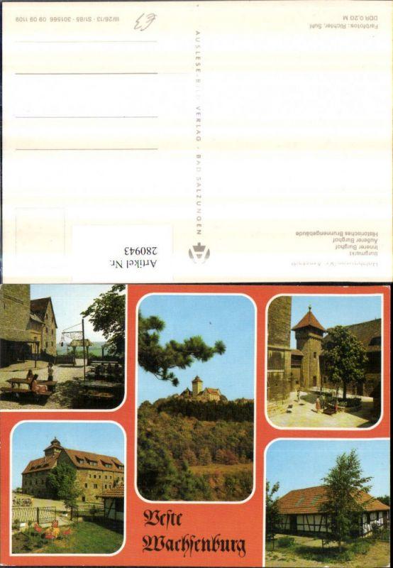 280943,Holzhausen Feste Festung Wachsenburg Burgmarkt Burghof Brunnengebäude Mehrbildkarte 0