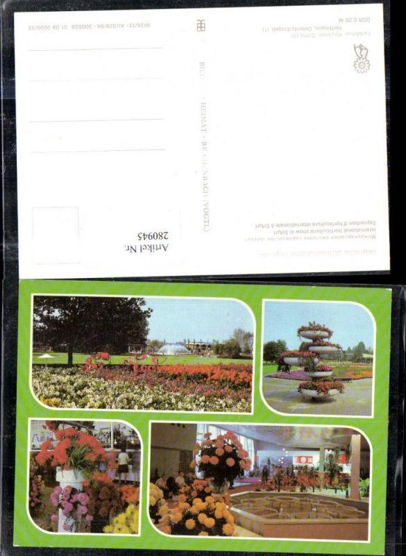 280945,Erfurt Internationale Gartenbauausstellung Blumen Garten Mehrbildkarte